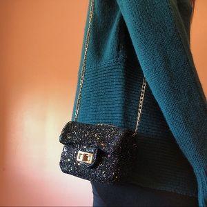 Handbags - Midnight Glitter Micro Crossbody Bag
